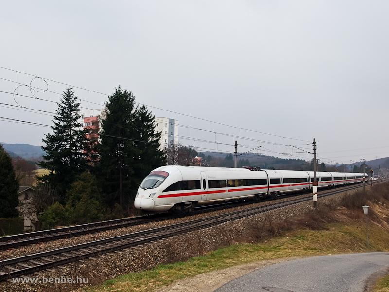A DB 411 1118 Plauen Vogtland ICE-T nagysebességű motorvonata Dürrwiennél fotó