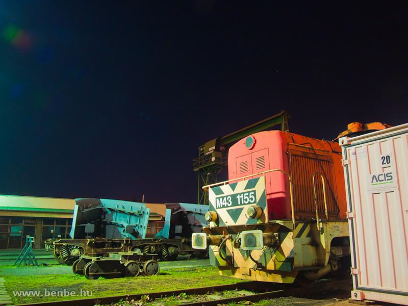 A MÁV M43 1155 a selejtezést várja Hatvan fűtőházában fotó