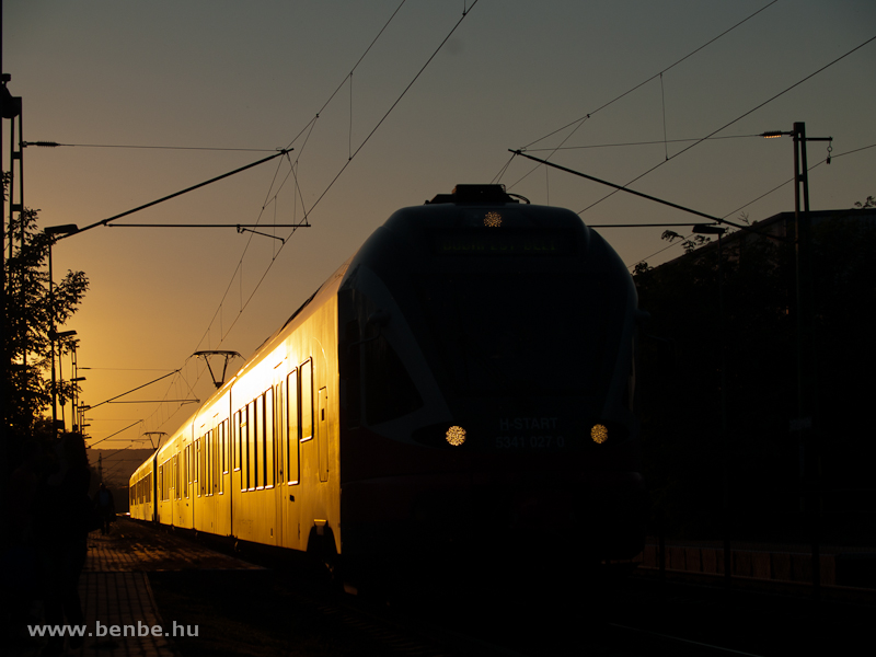 The 5341 027-0 at Törökbálint in the golden hour photo