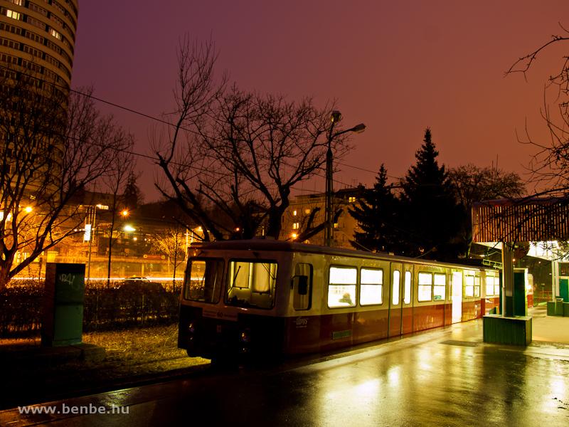 A 63 pályaszámú fogaskerekű vezérlőkocsi Városmajor állomáson (60-as villamos) fotó