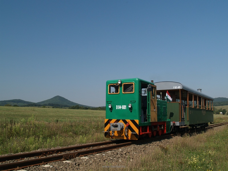 The Szob Narrow Gauge Railway's D04-601 at Márianosztra station photo