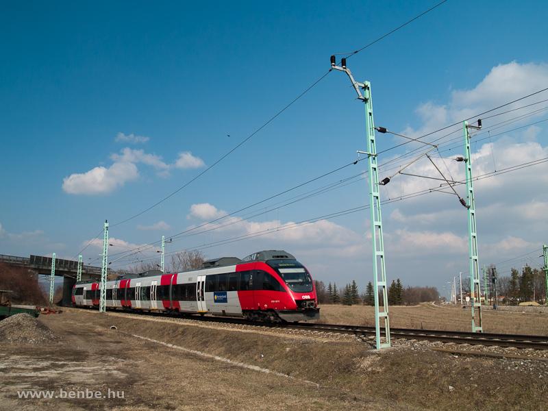 Burgenlandi forrásból beszerzett 4124-es Vulkapordány állomásra érkezik Ebenfurth felől fotó