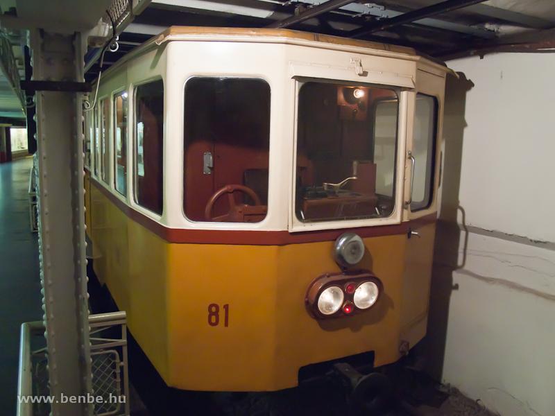 A Millenniumi Földalatti Vasút 81-es vezérlőkocsija a Földalatti Vasúti Múzeumban fotó