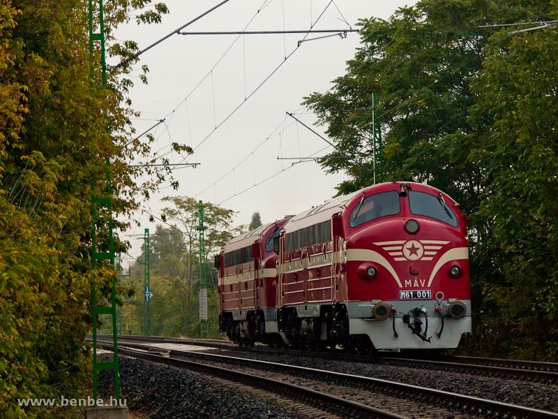 Az M61 020 �s az M61 001 a Ferencv�ros �s K�KI k�z�tti �sszek�tő vas�tvonalon fot�