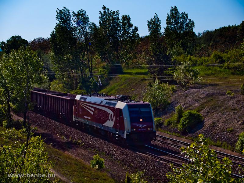 Az Eurocom 481 001-0 Szár és Bicske között egy tehervonattal fotó