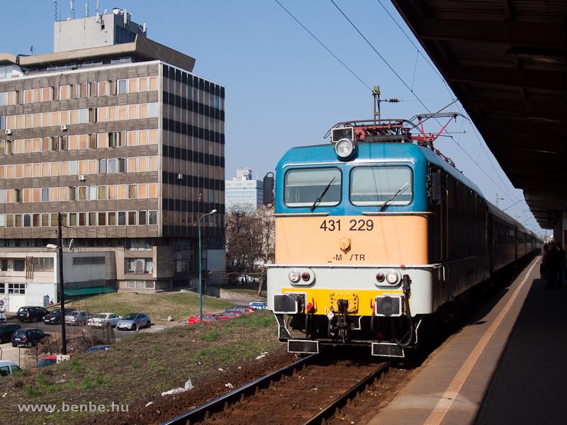 A MÁV-TR 431 229 Zuglóban – szépen kidekorált szegedi mozdony fotó