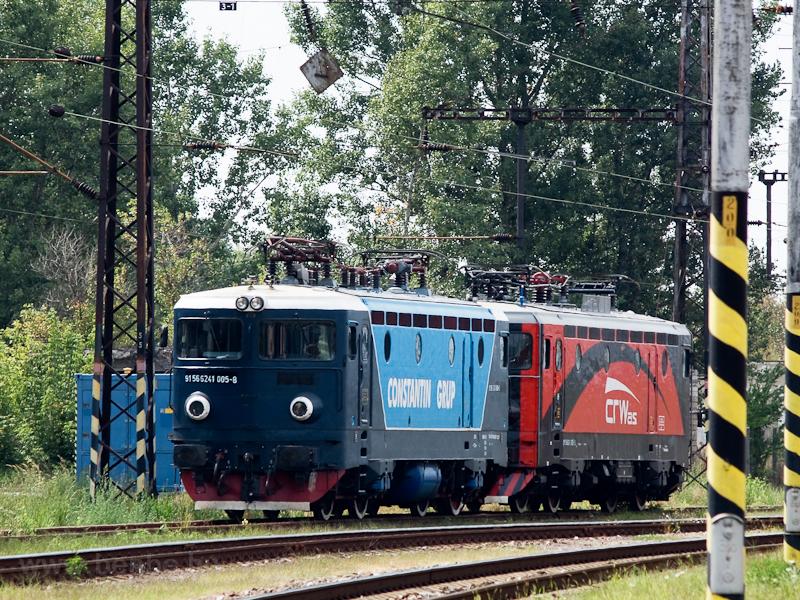 A ConstantinGrup és a CRW.AS. négytengelyes ASEA-mozdonyai Párkány-Nána állomáson fotó