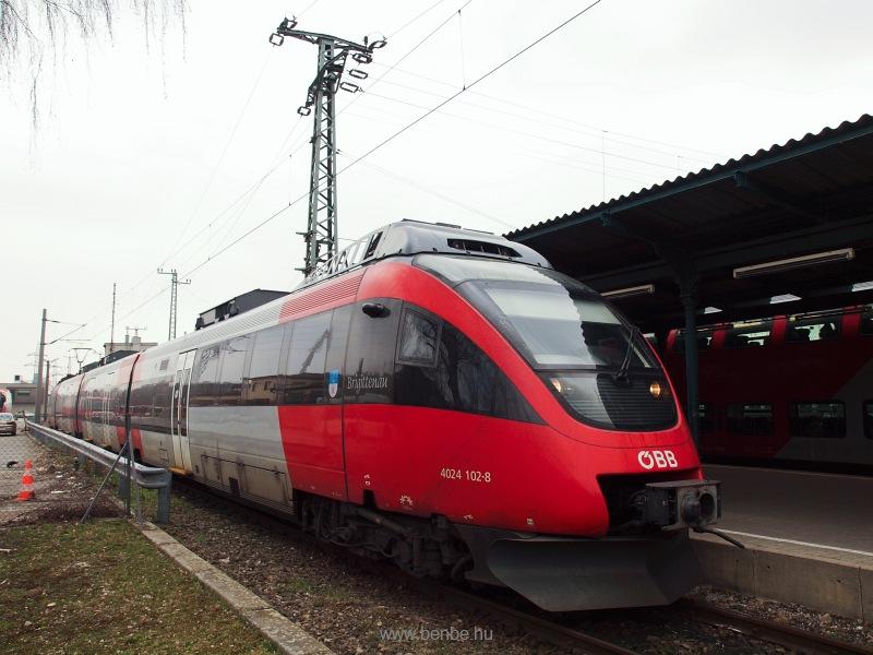 Az ÖBB 4024 102-8  Brigittenau  Talent motorvonata Wien Hütteldorf állomáson fotó