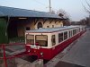 A budapesti fogaskerekű vasút 63-as vezérlőkocsija Széchenyi-hegy állomáson