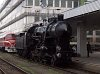 A MÁV 328,054 pályaszámú gyorsvonati gőzmozdonya Budapest - Déli pályaudvaron