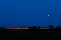 A FLIRT electric multiple unit between T�rnok and Martonv�s�r during the lunar eclipse