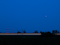 A fast train under the lunar eclipse