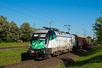 A GYSEV 1047 503-6-os Liszt Ferenc Taurusa egy tehervonattal jár be Sopronkertes (Baumgarten) felől Sopronba