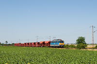 The V43 1028 is hauling the local freight train between Ad�cs and Kar�csond stops