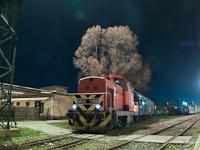 A MÁV M43 1159 tolat a hatvani éjszakában