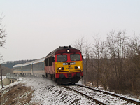 The M41 2197 is hauling the Halászbástya InterCity on the rebuilt, but not yet electrified Szentgotthárd-Szombathely railway