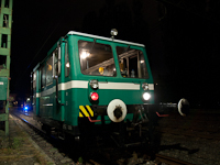 A track maintenance vehicle that came from the Metró lines - it's still equipped with the IFA engines