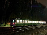 The retro MIX/A suburban electric trainset is seen at Ó-Békás