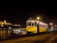 The Budapest electric trams are 125 years old - the first BKV historic tram to wear its late, steel chassis running as a scheduled historic service at Vigadó tér