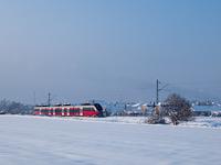 Az 5342 006-3 pályaszámú Bombardier Talent Oroszlány és Kecskéd alsó megállóhelyek között
