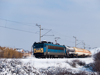 The 630 010 is seen hauling a freight train at Öskü