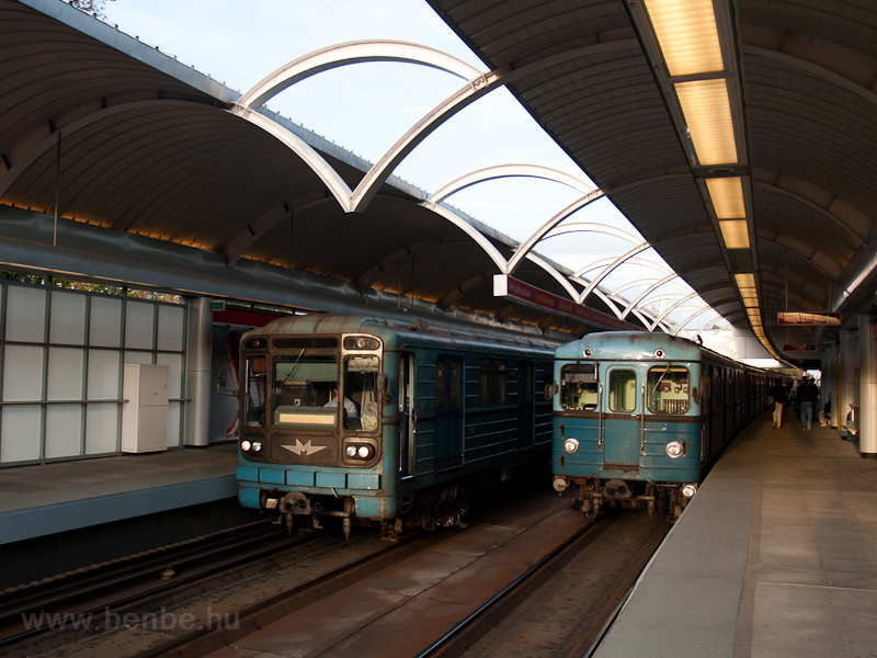 Russian metro trains at Pil photo