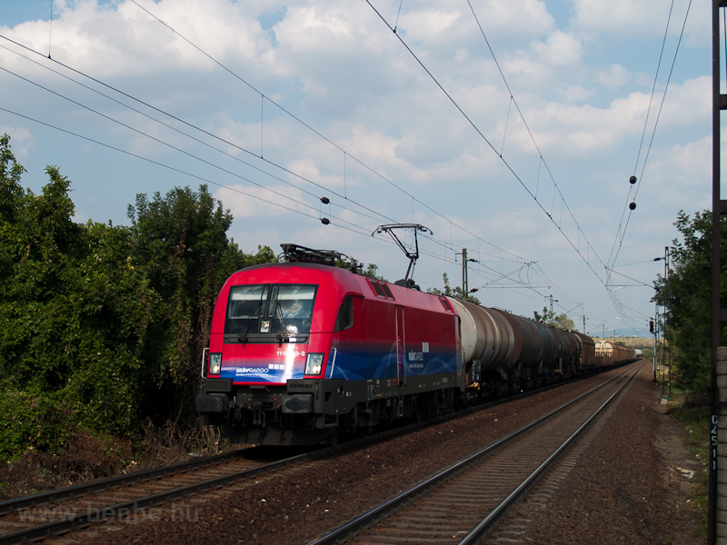 The MÁV-Cargo 1116 043-2 seen hauling a freight train near Bicske alsó photo