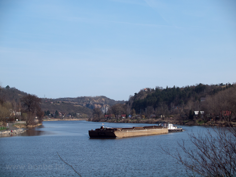Barge on the Vltava photo