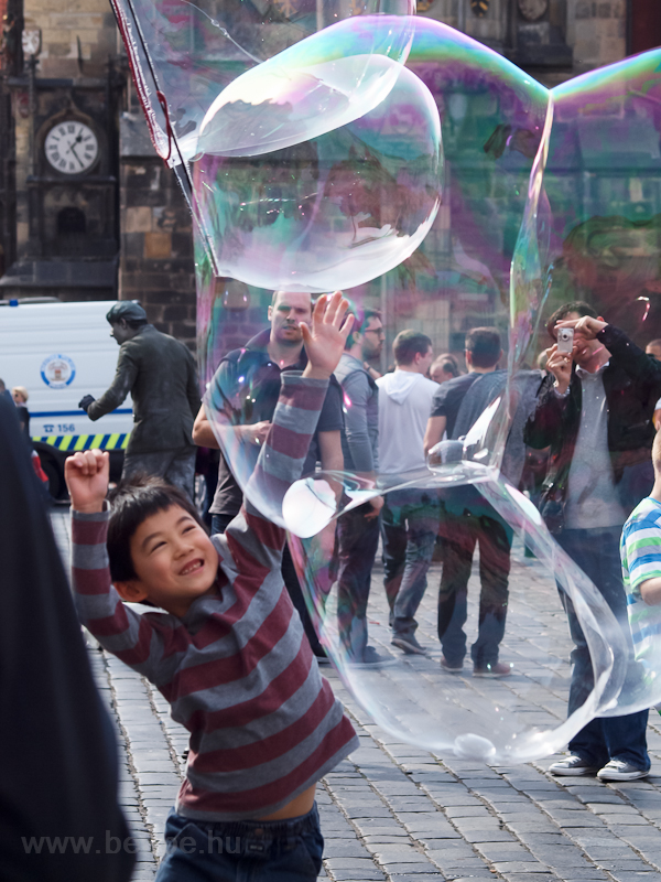 Soap bubbles in Prague photo
