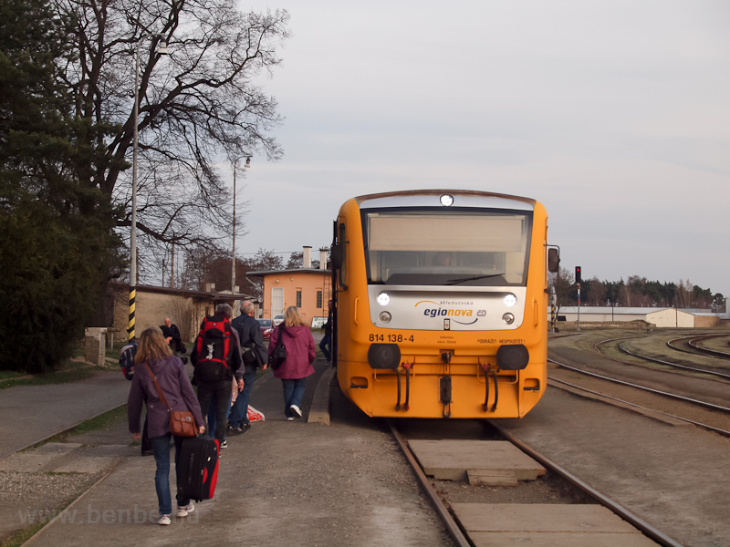 The ČD 814 138-4 seen  photo