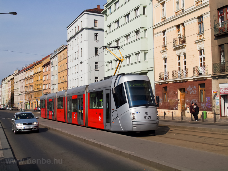 The Škoda 14T number 9169 seen at Praha-Žižkov photo