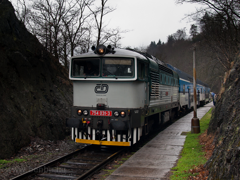 The ČD 754 031-3 seen  photo