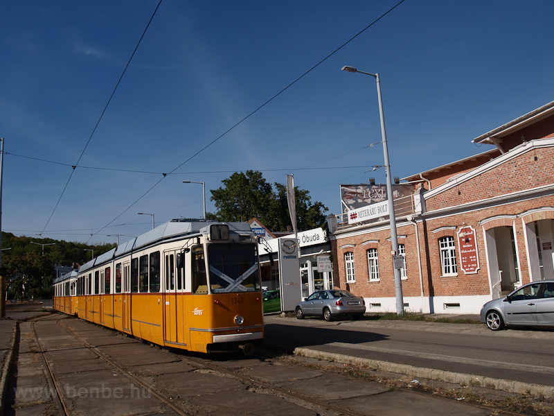 Tram line 17 was stopped, a photo