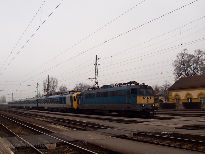 The MÁV-TR 431 118 is seen  photo