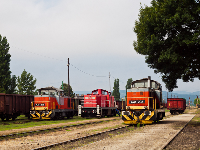 Three locomotives seen at T photo