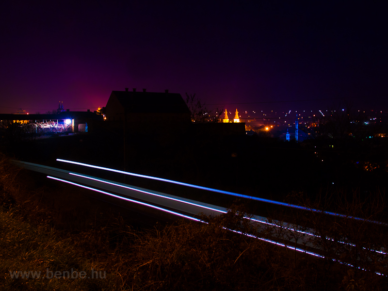 Light streaks above Eger photo