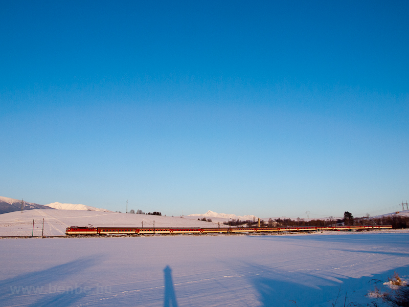 A fast train hauled by a &# photo