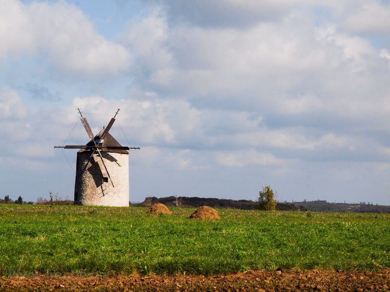 The old windmill at Tés photo