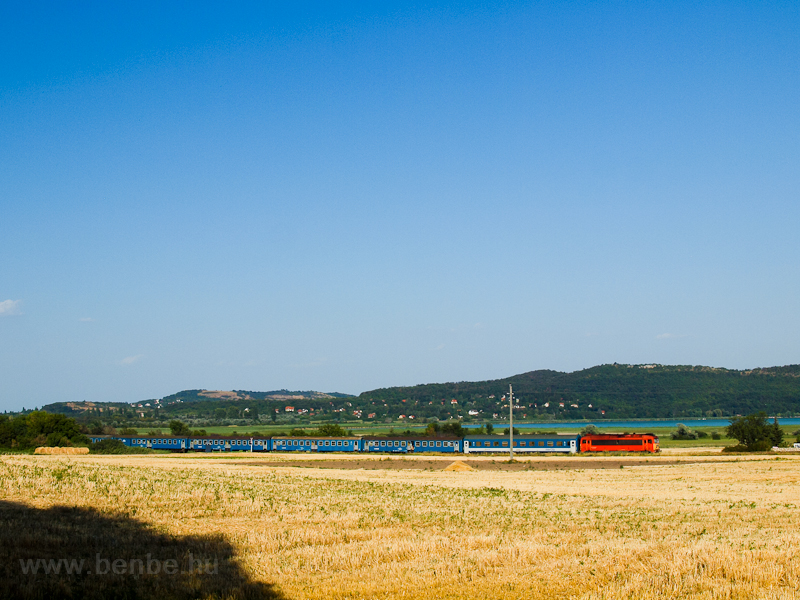 Fast train and the Balaton picture