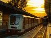Alstom és EV3 metrók az Örs vezér terén