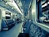 Inside a 81-717 metro car