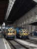 The electric shunters 460 036 and 460 023 seen at Budapest-Keleti