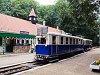 The ABamot 2 historic narrow-gauge railcar of the Children's Railway seen at Csillebérc station