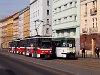 A 8740 pályaszámú ČKD Tatra T6A2 villamos Prágában a Žižkov városrészben