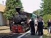Steam powered historic train at Csömödér
