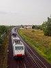 A Railpool 185 636-8 a Mercedes-vonattal Vecsésnél