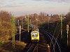 A MÁV-START 414 018 pályaszámú BDVmot sorozatú motorkocsija Dunakeszi-Gyártelep és Dunakeszi között