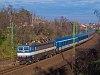 The &#381;SSK 362 005-3 <q>Eso</q> seen hauling fast train Petrov near Dunakeszi