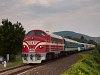 A MÁV PMLI 2761 017 pályaszámú NoHAB mozdonya gyorsvonatával Csopak és Balatonrendes között