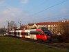 The ÖBB 4124 025-0 seen between Sopronkertes (Baumgarten) and Sopron-GYSEV stations